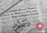 Image of damage from flood Ohio United States USA, 1937, second 2 stock footage video 65675062900