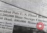 Image of damage from flood Ohio United States USA, 1937, second 62 stock footage video 65675062900