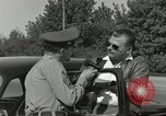 Image of taxicab driver Berlin Germany, 1959, second 17 stock footage video 65675062920