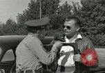 Image of taxicab driver Berlin Germany, 1959, second 21 stock footage video 65675062920