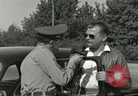 Image of taxicab driver Berlin Germany, 1959, second 22 stock footage video 65675062920
