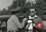 Image of taxicab driver Berlin Germany, 1959, second 25 stock footage video 65675062920
