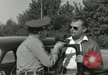 Image of taxicab driver Berlin Germany, 1959, second 26 stock footage video 65675062920