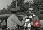 Image of taxicab driver Berlin Germany, 1959, second 28 stock footage video 65675062920