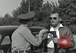 Image of taxicab driver Berlin Germany, 1959, second 30 stock footage video 65675062920