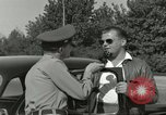 Image of taxicab driver Berlin Germany, 1959, second 31 stock footage video 65675062920