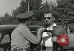 Image of taxicab driver Berlin Germany, 1959, second 34 stock footage video 65675062920