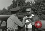 Image of taxicab driver Berlin Germany, 1959, second 43 stock footage video 65675062920