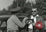 Image of taxicab driver Berlin Germany, 1959, second 46 stock footage video 65675062920