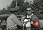 Image of taxicab driver Berlin Germany, 1959, second 47 stock footage video 65675062920