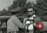Image of taxicab driver Berlin Germany, 1959, second 49 stock footage video 65675062920