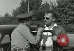 Image of taxicab driver Berlin Germany, 1959, second 56 stock footage video 65675062920