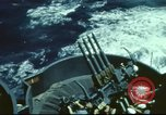 Image of USS Yorktown during Battle of Midway in World War II Pacific Ocean, 1942, second 6 stock footage video 65675062938