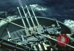Image of USS Yorktown during Battle of Midway in World War II Pacific Ocean, 1942, second 14 stock footage video 65675062938