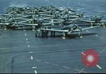 Image of USS Yorktown during Battle of Midway in World War II Pacific Ocean, 1942, second 23 stock footage video 65675062938