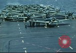 Image of USS Yorktown during Battle of Midway in World War II Pacific Ocean, 1942, second 26 stock footage video 65675062938