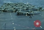 Image of USS Yorktown during Battle of Midway in World War II Pacific Ocean, 1942, second 32 stock footage video 65675062938