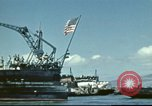 Image of USS Nevada leaving drydock after repairs Pearl Harbor Hawaii USA, 1942, second 23 stock footage video 65675062939