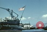 Image of USS Nevada leaving drydock after repairs Pearl Harbor Hawaii USA, 1942, second 26 stock footage video 65675062939