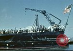 Image of USS Nevada leaving drydock after repairs Pearl Harbor Hawaii USA, 1942, second 33 stock footage video 65675062939