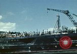 Image of USS Nevada leaving drydock after repairs Pearl Harbor Hawaii USA, 1942, second 35 stock footage video 65675062939