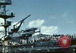 Image of USS Nevada leaving drydock after repairs Pearl Harbor Hawaii USA, 1942, second 38 stock footage video 65675062939