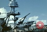 Image of USS Nevada leaving drydock after repairs Pearl Harbor Hawaii USA, 1942, second 40 stock footage video 65675062939