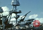 Image of USS Nevada leaving drydock after repairs Pearl Harbor Hawaii USA, 1942, second 42 stock footage video 65675062939