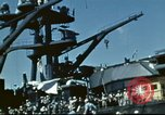 Image of USS Nevada leaving drydock after repairs Pearl Harbor Hawaii USA, 1942, second 44 stock footage video 65675062939