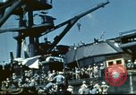 Image of USS Nevada leaving drydock after repairs Pearl Harbor Hawaii USA, 1942, second 45 stock footage video 65675062939