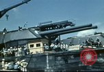 Image of USS Nevada leaving drydock after repairs Pearl Harbor Hawaii USA, 1942, second 48 stock footage video 65675062939