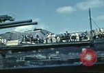 Image of USS Nevada leaving drydock after repairs Pearl Harbor Hawaii USA, 1942, second 50 stock footage video 65675062939