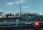 Image of USS Nevada leaving drydock after repairs Pearl Harbor Hawaii USA, 1942, second 51 stock footage video 65675062939