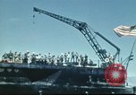 Image of USS Nevada leaving drydock after repairs Pearl Harbor Hawaii USA, 1942, second 55 stock footage video 65675062939