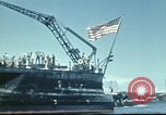 Image of USS Nevada leaving drydock after repairs Pearl Harbor Hawaii USA, 1942, second 56 stock footage video 65675062939
