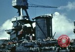 Image of USS Nevada leaving drydock after repairs Pearl Harbor Hawaii USA, 1942, second 57 stock footage video 65675062939