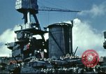 Image of USS Nevada leaving drydock after repairs Pearl Harbor Hawaii USA, 1942, second 58 stock footage video 65675062939