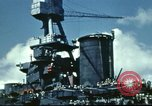 Image of USS Nevada leaving drydock after repairs Pearl Harbor Hawaii USA, 1942, second 59 stock footage video 65675062939