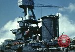 Image of USS Nevada leaving drydock after repairs Pearl Harbor Hawaii USA, 1942, second 60 stock footage video 65675062939