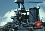 Image of USS Nevada leaving drydock after repairs Pearl Harbor Hawaii USA, 1942, second 62 stock footage video 65675062939