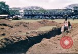 Image of Digging air raid shelters in Hawaii at start of World War II Hawaii USA, 1942, second 35 stock footage video 65675062971