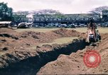 Image of Digging air raid shelters in Hawaii at start of World War II Hawaii USA, 1942, second 41 stock footage video 65675062971