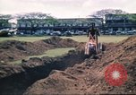 Image of Digging air raid shelters in Hawaii at start of World War II Hawaii USA, 1942, second 54 stock footage video 65675062971