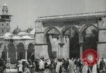 Image of Families at  Al Aqsa Mosque Jerusalem Palestine, 1945, second 12 stock footage video 65675062975