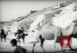 Image of Small boy walking with camels Amman Transjordan, 1945, second 23 stock footage video 65675062976