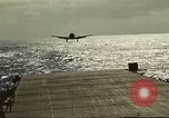 Image of US Navy aircraft operating in Battle of Midway Pacific Ocean, 1942, second 41 stock footage video 65675063000