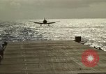Image of US Navy aircraft operating in Battle of Midway Pacific Ocean, 1942, second 42 stock footage video 65675063000