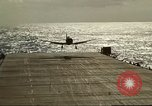 Image of US Navy aircraft operating in Battle of Midway Pacific Ocean, 1942, second 43 stock footage video 65675063000