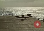 Image of US Navy aircraft operating in Battle of Midway Pacific Ocean, 1942, second 44 stock footage video 65675063000