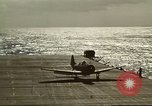 Image of US Navy aircraft operating in Battle of Midway Pacific Ocean, 1942, second 45 stock footage video 65675063000